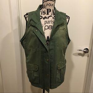 Dear John Olive Green Utility Vest, XL